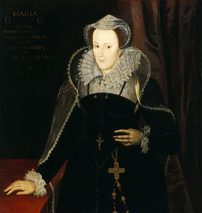 Мария Стюарт в заточении.